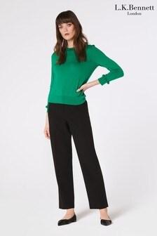 מכנסיים בגזרה ישרה של L.K.Bennett דגם Frieda בשחור
