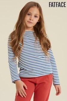 FatFace Blue Breton T-Shirt