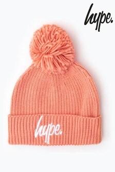 Hype.針織羅紋絨球無邊便帽