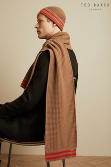 Ted Baker Tan Donscaf Striped Detail Scarf