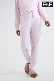 F&F Lilac Spring Towelling Pants