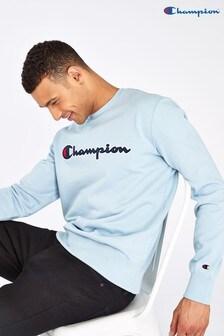 Champion Large Script Logo Crew Neck Sweatshirt
