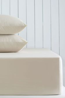 Natural Cotton Rich Extra Deep Fitted Sheet