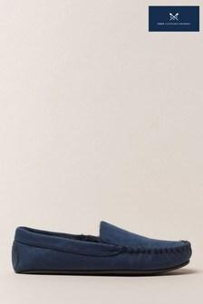 حذاءخف للبيتأزرق منCrew Clothing