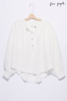 Free People Ivory Pull Over Blouse