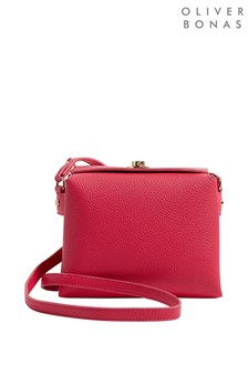 Oliver Bonas Olivia Pink Curved Crossbody Bag