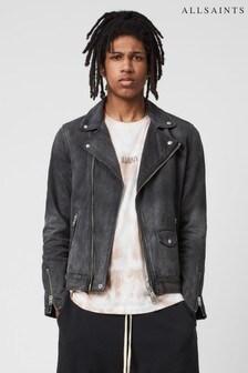 Джинсовая байкерская куртка AllSaints Burgess