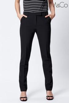 M&Co Black Classic Slim Trousers