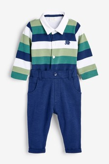 Jersey Rugby Bodysuit and Chino Set (0mths-2yrs)
