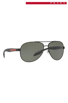 Prada Sport Black Rubber Sunglasses