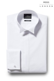 Moss London Extra Slim Fit Wing Collar Dress Shirt
