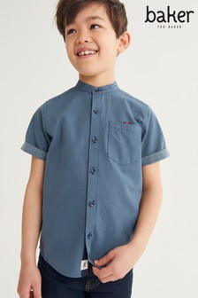 Baker by Ted Baker Blue Grandad Shirt
