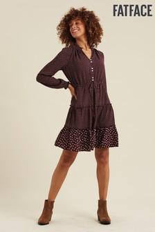 FatFace Purple Ariana Spot Dress