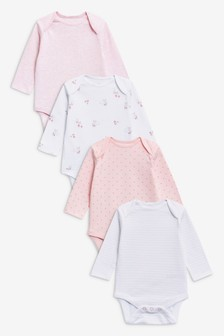 4 Pack Long Sleeve Bodysuits (0mths-3yrs)