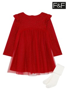 F&F Red Sparkle Party Dress