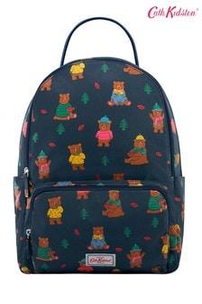 Cath Kidston® Woodland Bear Rucksack mit Außenfach, blau