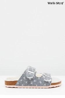 حذاء للبيت سويد لون طبيعي بتوسيد للقدمPhoebe منWhite Stuff