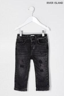River Island Acid Black Jake Jeans