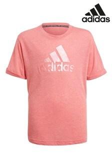 تي شيرت شعار Pearl وردي من adidas