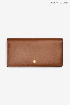 Skórzany wąski portfel Ralph Lauren