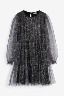 Kleid mit Netzdetail (3-16yrs)