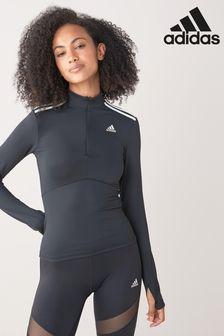 adidas ISC Sweatshirt mit 1/4-Reißverschluss, Schwarz