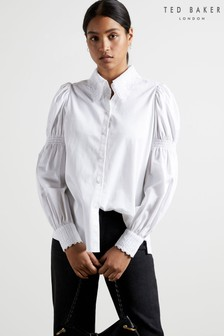 Ted Baker Briona Cotton Shirt With Lace Trim