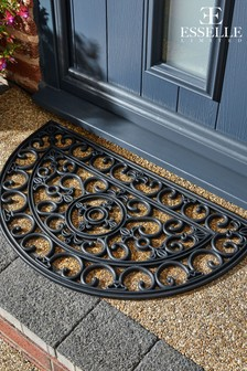 Mud Stopper Half Moon Lattice Doormat