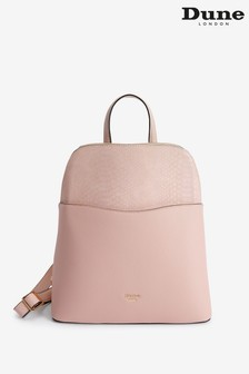 Dune London Nude Dovalle Blush Synthetic Logo Plate Backpack