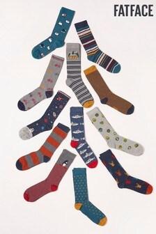 FatFace 12-Tages-Socken für Herren, Grün