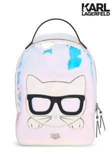 Karl Lagerfeld Grey Cat Backpack