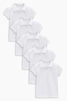 5 рубашек поло с короткими рукавами (3-16 лет)