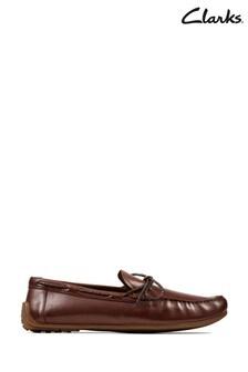 Clarks British Tan Reazor Boat Shoes
