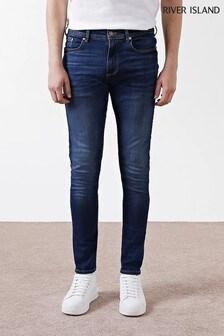 River Island Dark Blue Wash Sid Skinny Jeans