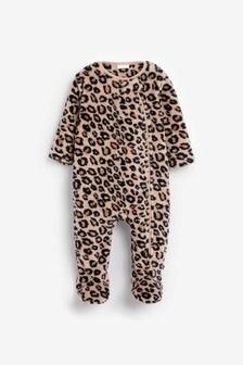 Флисовая пижама с леопардовым принтом (0 мес. - 3 лет)