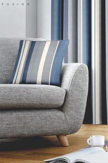 Fusion Blue Whitworth Stripe Cushion