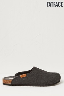 FatFace Grey Hemsley Felt House Shoes