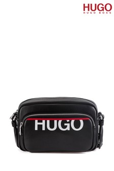 תיק צד עם רצועה אלכסונית שלHUGO דגםKyla בשחור
