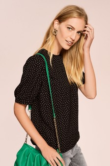 Gathered Short Sleeve Top