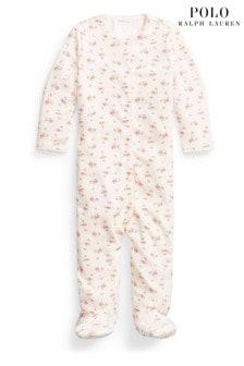 Ralph Lauren Pink Floral Babygrow