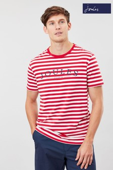 Joules Red Flynn Graphic Print Crew Neck T-Shirt