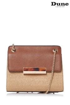 Dune London Tan Delveena Small Shoulder Bag