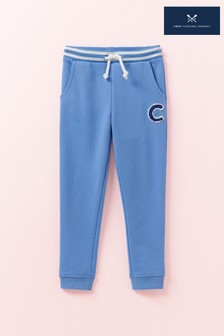 Crew Clothing Blue Solid Crew Joggers