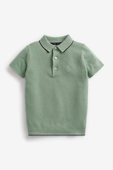 Textured Knitted Polo Shirt (3-16yrs)