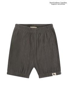 Pantalones cortos de bambula de algodón orgánico en gris BloomersdeTurtledove London