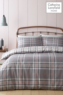 Catherine Lansfield Exclusive To Next Kelso Check Duvet Cover And Pillowcase Set