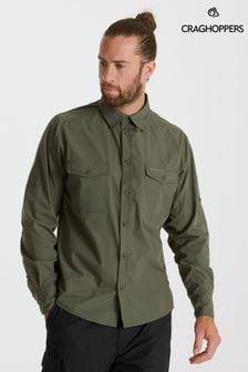 Craghoppers Green Kiwi Long Sleeve Shirt