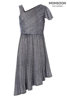 Monsoon Mercury Navy One Shoulder Prom Dress
