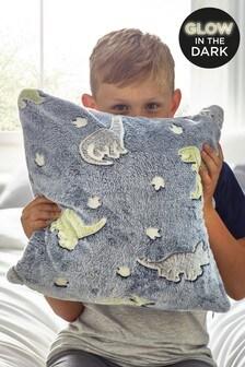 Glow In The Dark Fleece Dinosaur Cushion