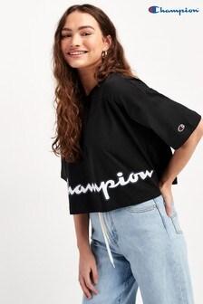 Champion Oversize Rundhals-T-Shirt mit großem Script-Logo